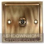 Trimline Plate Antique Bronze Toggle Light Switches